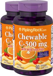 Witamina C 500 mg do żucia (naturalny, pomarańczowy) 90 Tabletki do żucia