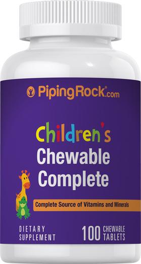 Kompletny dzienny zestaw witamin dla dzieci 100 Tabletki do żucia