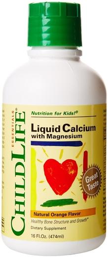 Płynny wapń z magnezem dla dzieci (naturalny pomarańczowy)  16 fl oz Butelka