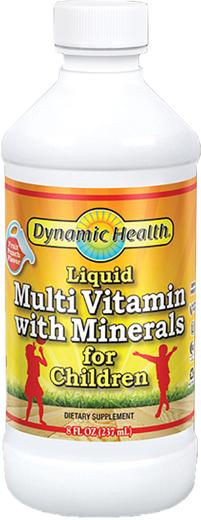 Жидкие мультивитамины и минералы для детей 8 fl oz (237 mL) Флакон