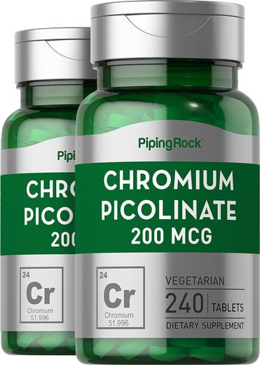 Chromium Picolinate 200 mcg supplement 240 Tablets
