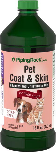 Tratamento de Pele e Pelo para Pets 16 fl oz (473 mL) Frasco