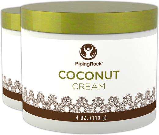 Creme de Beleza de Coco, 4 oz (113 g) Boião, 2  Jarras