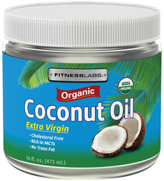 Ekstra olej kokosowy pierwszego tłoczenia Organiczna 16 fl oz (473 mL) Butelka