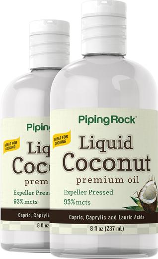 Liquid Coconut Premium Oil 8 oz (237 ml) 2 Bottles