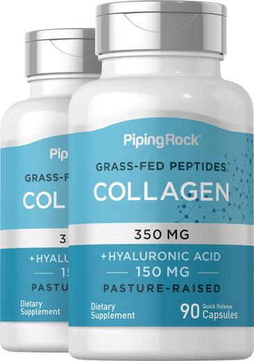Collagen 350 mg + Hyaluronic Acid 150 mg, 90 Caps x 2 Bottles