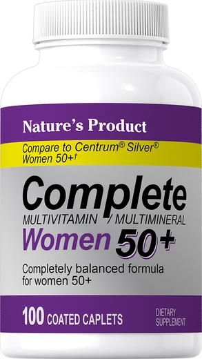 Complete Women's 50+ Multivitamin & Multimineral, 100 Coated Caplets