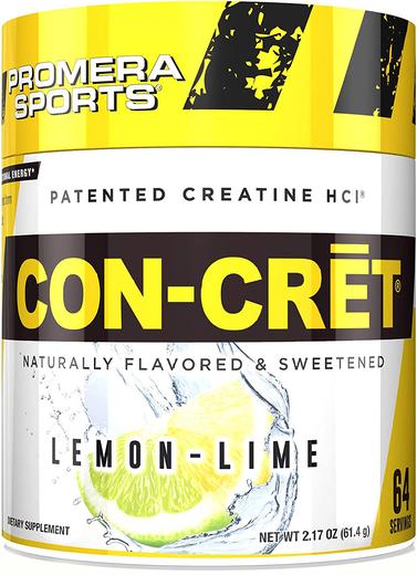 CON-CRET Creatine HCl (Lemon Lime), 61.4 g