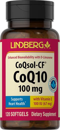 CoQsol-CF CoQ10, 100 mg, 120 Softgels
