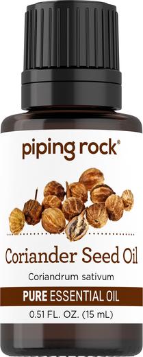 Olejek eteryczny z nasion kolendry o czystości (GC/MS Sprawdzono) 1/2 fl oz (15 mL) Butelka z zakraplaczem