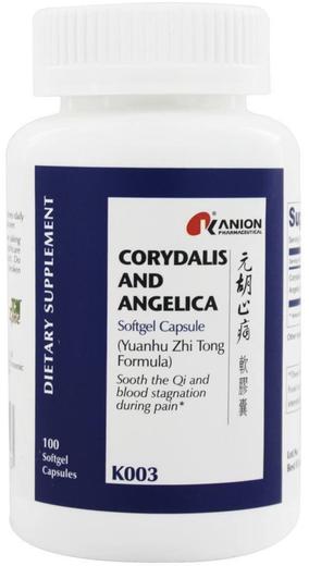 Corydalis e angélica, 100 Cápsulas gelatinosas