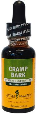 Extrait liquide d'écorce de crampe 1 fl oz (30 mL) Compte-gouttes en verre