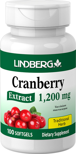 Cranberry Extract, 1200 mg, 100 Softgels