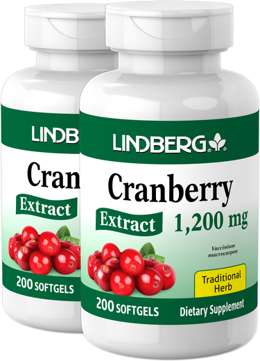 Cranberry Extract, 1200 mg, 200 Sg x 2 Bottles