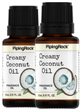 Creamy Coconut Fragrance Oil (version of Bath & Body Works) 2 Dropper Bottles x 1/2 oz (15 ml)