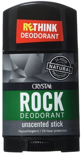 Stick desodorizante Crystal Rock 3.5 oz (100 g) Tubo