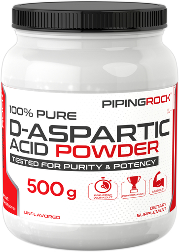 D-Aspartat Serbuk Asam 500 g (17.64 oz) Botol