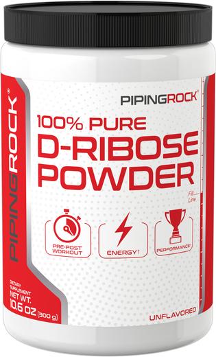 Pó de D-ribose 100% Puro, 10.6 oz (300 g) Frasco