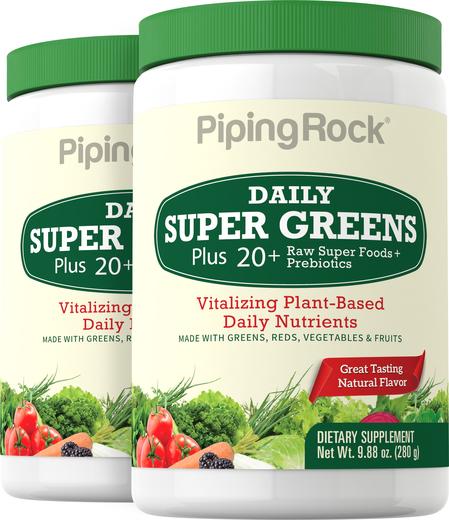 Proszek Super Greens do codziennego stosowania (Organiczna) 9.88 oz (280 g) Butelka