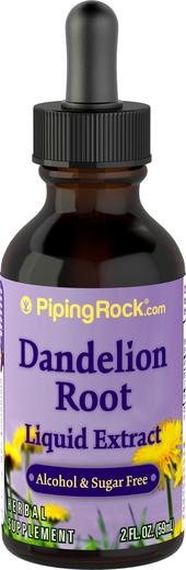 Extrait liquide de racine de pissenlit sans alcool 2 fl oz (59 mL) Compte-gouttes en verre