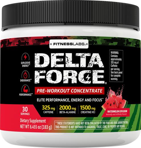 Delta Force Pre-Workout Concentrate Powder (Watermelon Explosion), 6.45 oz (183 g)
