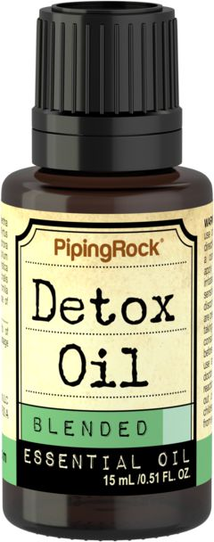 Aceite esencial Detox 1/2 fl oz (15 mL) Frasco con dosificador