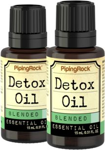 Detox Essential Oil 2 Dropper Bottles x 1/2 oz (15 ml)