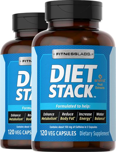 Diet Stack, 120 Capsules x 2 Bottles