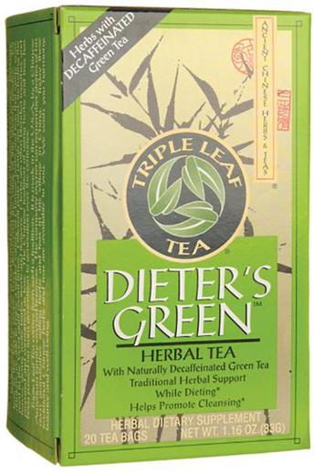 Dietetyczna zielona herbata bez kofeiny 20 Torebki do herbaty