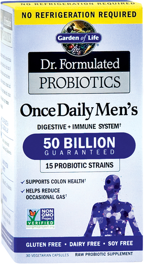 Dr. Formulated Probiotics Once Daily Men's, 50 Billion, 30 Veg Caps