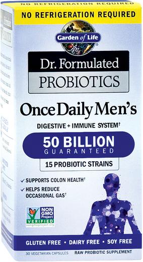 Probiotyki dla mężczyzn Dr. Formulated do przyjmowania raz dziennie 30 Kapsułki wegetariańskie