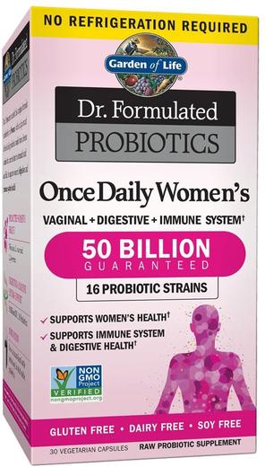 Dr. Formulated Probiotics Once Daily Women's 50 Billion, 30 Veg Caps