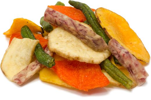 Chips de légumes séchés 1 lb (454 g) Récipient
