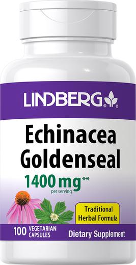 Echinacea Goldenseal, 1400 mg (per serving), 100 Vegetarian Capsules