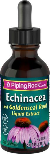 Płynny ekstrakt z echinacei i gorzknika bez alkoholu, gliceryd 2 fl oz (59 mL) Butelka z zakraplaczem