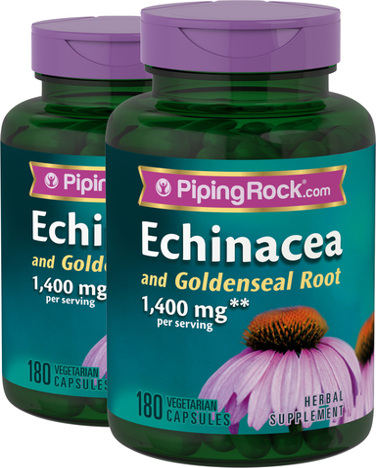 Echinacea & Goldenseal Root 2 Bottles x 180 Veg Capsules