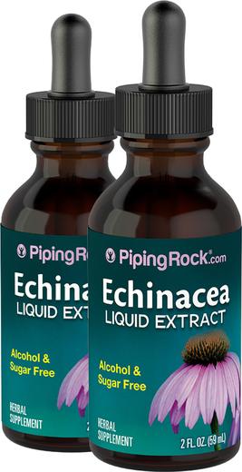 Echinacea Liquid Extract Alcohol Free, 2 fl oz (59 mL) Dropper Bottle x 2 Bottles