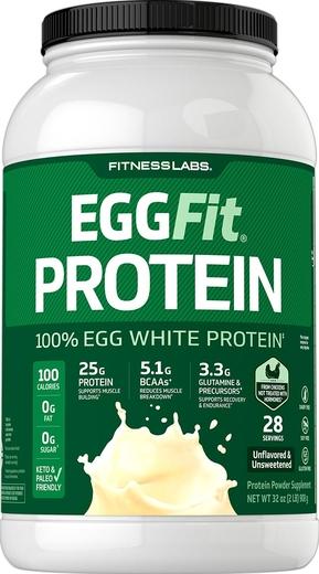 Białko EggFit (bez dodatków smakowych i słodzików) 2 lb (908 g) Butelka