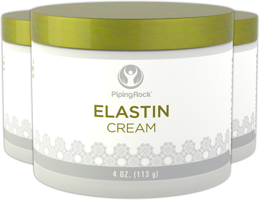 Elastin Cream for skin and face 3 Jars x 4 oz (113 g)