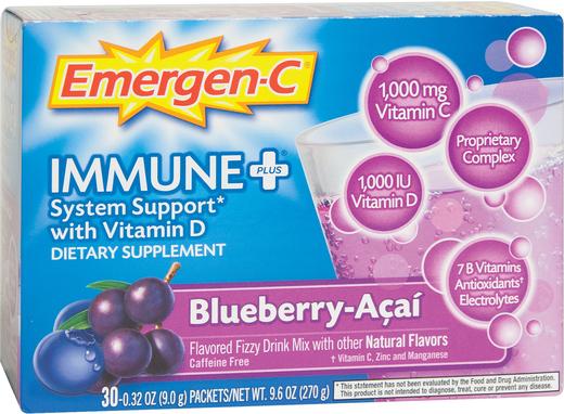 Emergen-C Immune Plus Vitamin D (jagoda acai) 30 Paczki