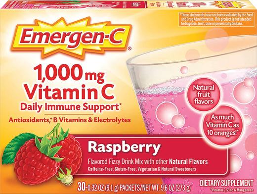 Napój w proszku z witaminą C Emergen-C (malina) 30 Paczki
