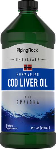 Olej z wątroby dorsza norweskiego (zwykły) 16 fl oz (473 mL) Butelka