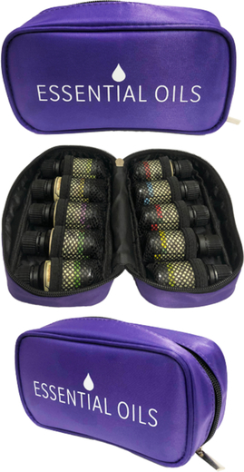 Essential Oil Carrying Case - Holds Ten (10) 15 mL Bottles