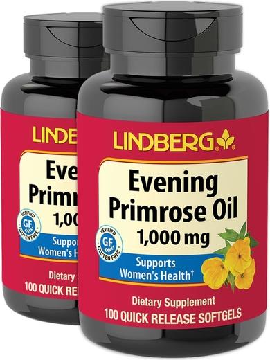 Evening Primrose Oil, 1000 mg, 100 Softgels x 2 Bottles