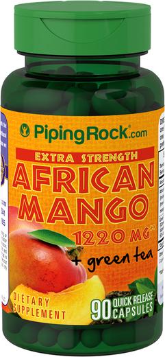 Afrykańskie mangoi zielona herbata o wzmocnionym działaniu 90 Kapsułki o szybkim uwalnianiu