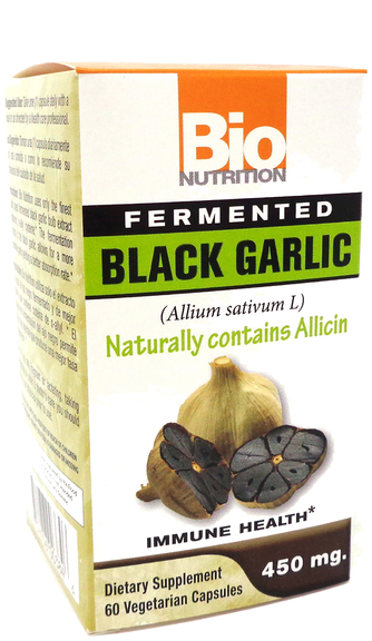 Fermented Black Garlic 450 mg, 60 Vegetarian Capsules