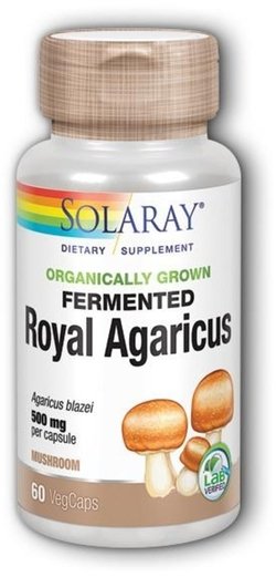 Fermented Royal Agaricus Mushroom 500mg 60 Vegetable Capsules