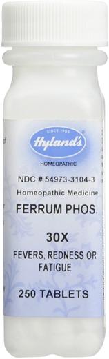 Ferro Fosfórico 30x Homeo Febres, Resfriados, 250 Comprimidos