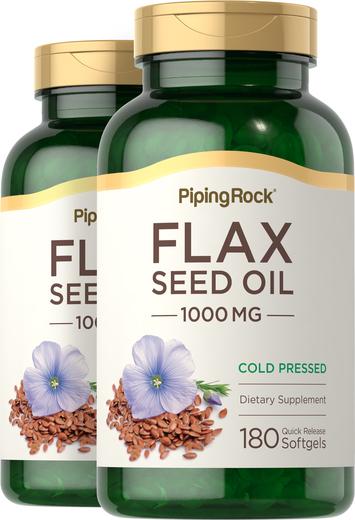 Flaxseed Oil 1000 mg  2 Bottles x 180 Softgels