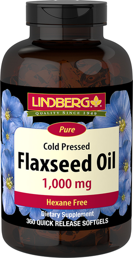 Flaxseed Oil , 1000 mg, 360 Quick Release Softgels